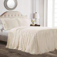 Lush Decor Ruffle Full Bedspread Set in Ivory