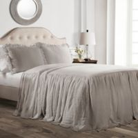 Lush Decor Ruffle Full Bedspread Set in Grey