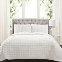 Lush Decor Neeley Faux Fur Full/Queen Quilt Set in White