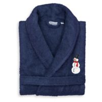 Linum Home Textiles Snowman Small/Medium Bathrobe in Navy