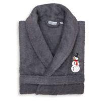 Linum Home Textiles Snowman Small/Medium Bathrobe in Grey