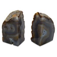 Agate Stone Large Bookends in Natural (Set of 2)