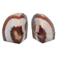 Agate Stone Extra-Large Bookends in Brown (Set of 2)