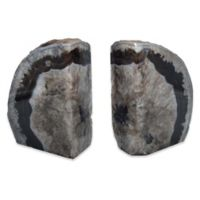 Agate Stone Extra-Large Bookends in Black (Set of 2)