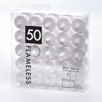 50-Count LED Tea Light Candles in White