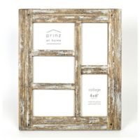 Prinz Homestead Wood 5-Photo 4-Inch x 6-Inch Collage Frame in White