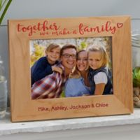Together We Make A Family 5-Inch x 7-Inch Wood Picture Frame
