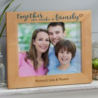 Together We Make A Family 8-Inch x 10-Inch Wood Picture Frame