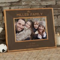 Family Is Precious 4-Inch x 6-Inch Wood Picture Frame