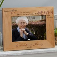 Heaven In Our Home 5-Inch x 7-Inch Wood Picture Frame
