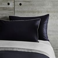Frette At Home Post Modern King Pillow Sham in Black/Ivory