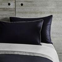 Frette At Home Post Modern King Pillow Sham in Black/Ivory