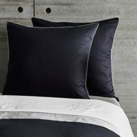Frette At Home Post Modern European Pillow Sham in Black/Ivory