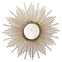 Two's Company® Sunburst™ Antiqued Gold Wall Mirror