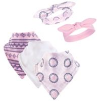 Yoga Sprout 5-Piece Ornamental Bib & Headband Set in Pink
