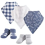 Yoga Sprout 5-Piece Forest Bib & Sock Set in Blue