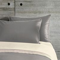 Frette At Home Post Modern Standard Pillow Sham in Grey/Ivory