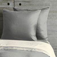 Frette At Home Post Modern European Pillow Sham in Grey/Ivory