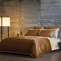 Frette At Home Post Modern King Duvet Cover in Caramel/Ivory