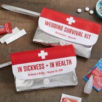 Personalized Wedding Survival Kit Wristlet