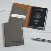 Signature Series Passport Holder in Charcoal