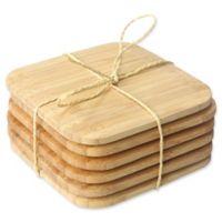 Home Basics Bamboo Coasters (Set of 6)