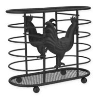 Home Basics Rooster Utensil Holder in Black