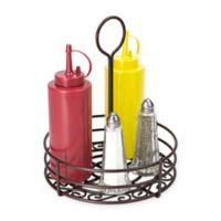 Home Basics Steel Condiment Caddy in Bronze