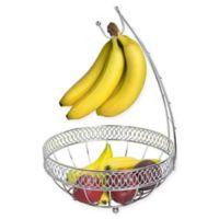 Home Basics Steel Fruit Basket/Hanger in Chrome
