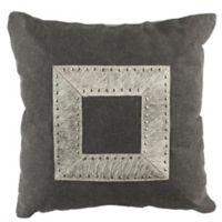 Safavieh Laurel Cowhide Square Throw Pillow in Grey/White
