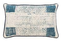 Safavieh Abena Oblong Throw Pillow in Blue/Cream