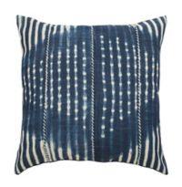 Safavieh Laurena Square Throw Pillow in Blue/Cream