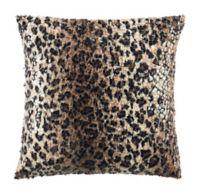 Safavieh Zahara Cheetah Square Throw Pillow in Brown