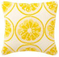 Safavieh Lemon Squeeze Indoor/Outdoor Throw Pillow in Yellow/White
