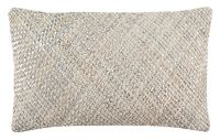 Safavieh Shelby Cowhide Oblong Throw Pillow in White