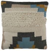 Safavieh Binx Square Throw Pillow in Gold/Blue