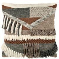 Safavieh Freja Square Throw Pillow in Charcoal/Brown