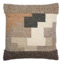 Safavieh Karlie Square Throw Pillow in Beige/Ivory