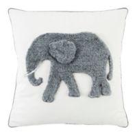 Safavieh Snuffles Square Throw Pillow in White/Grey