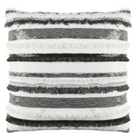 Safavieh Amalia Striped Square Throw Pillow in Grey/Ivory