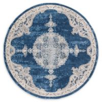 Safavieh Fremont 6'7 Round Area Rug in Navy