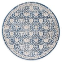 Safavieh Menlo 6'7 Round Area Rug in Navy