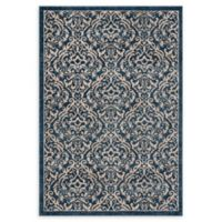 Safavieh Brentwood Salem 4' x 6' Area Rug in White/Navy