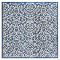 Safavieh Brentwood Salem 6'7 Square Area Rug in White/Navy