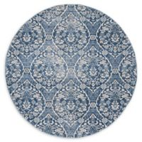 Safavieh Brentwood Brandon 6'7 Round Area Rug in Navy