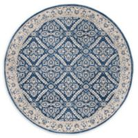 Safavieh Brentwood Oakland 6'7 Round Area Rug in Navy