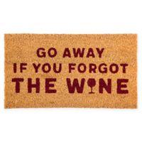 """Evergreen Wine 16"""" x 28"""" Coir Door Mat Insert in Red"""