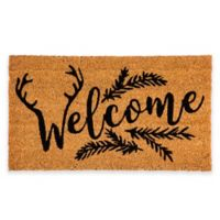 "Evergreen™ Welcome Antler 16"" x 28"" Coir Door Mat Insert"