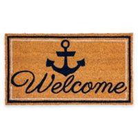 "Evergreen™ Welcome Anchor 16"" x 28"" Coir Door Mat Insert"