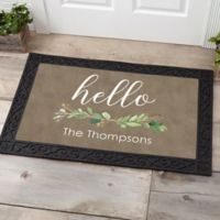 Greenery Welcome 20-Inch x 35-Inch Doormat